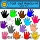 Footprint and Handprint Clip Art
