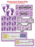 Footprints Purple - Classroom Theme Kit