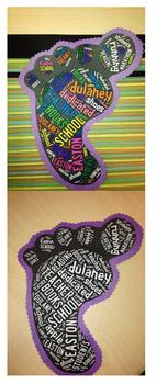 Footprints Word Cloud Activity and Display