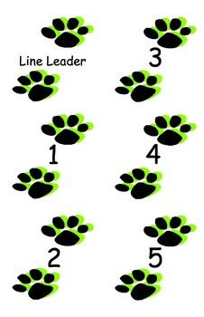 Footprints for lining up