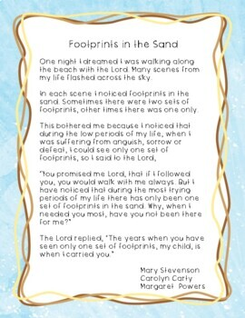graphic about Footprints in the Sand Printable identify Footprints inside the Sand Christian Craft