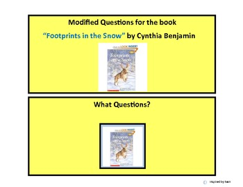 """Footprints in the Snow"" modified question boxes for Autism"