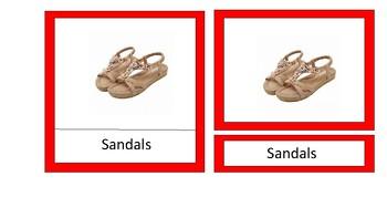Footwear nomenclature cards
