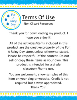 For A Rainy Day terms of use page