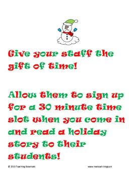 For Administrators: Christmas Read Aloud