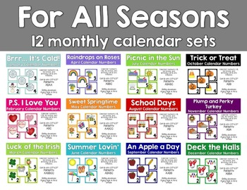 For All Seasons {12 month calendar set}