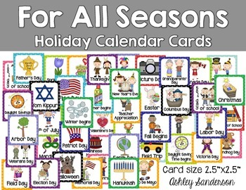 For All Seasons Holiday Calendar Cards