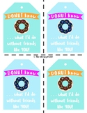 For FRIENDS . . . Donut . . . Donuts Valentine Tag . . . V
