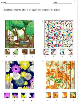 For GT and Early Finishers - Puzzling Pictures