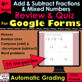 For Google Forms Add & Subtract Fractions & Mixed Numbers