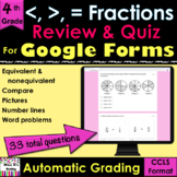 For Google Forms Compare & Equivalent Fractions Review & Q