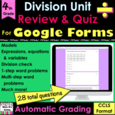 For Google Forms Division Review & Quiz: self-grades, pape