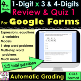 For Google Forms Multiplication Review & Quiz#1: self-grad