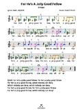For He's A Jolly Good Fellow (D) tabs4 recorder ocarina gu