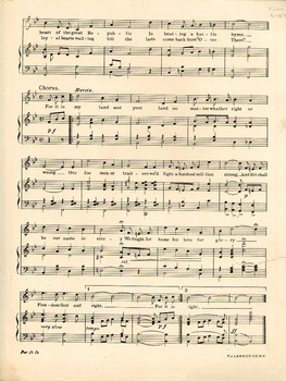 For It Is My Land and Your Land - Piano Sheet Music