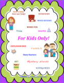 Sight Words FOR KIDS ONLY math literacy centers