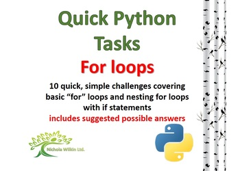 For Loops (Quick Python Programming Challenges)