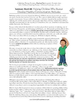 For Parents: Help Children Develop Healthy Attitudes