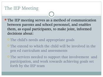 For Parents: Understanding the IEP Process