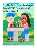 For The Best Understanding ReadyGEN Foundational Skills Grade 1