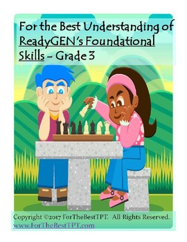 For The Best Understanding ReadyGEN Foundational Skills Grade 3
