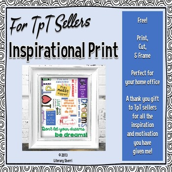 For TpT Sellers - Print and Bookmark