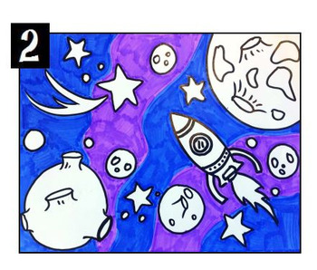 Science Art Activity and Lesson Plan for Kids - For Me, the Universe !
