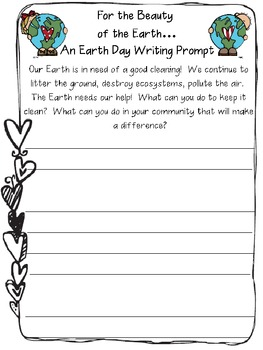 For the Beauty of the Earth...An Earth Day Writing Prompt