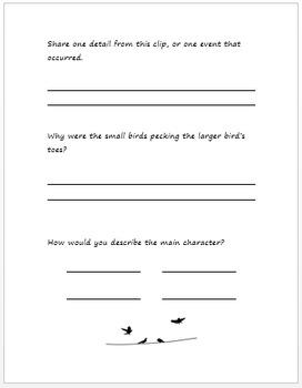 For the Birds Pixar Short Companion Worksheet