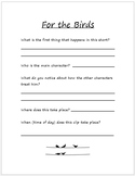 For the Birds Pixar Short Companion Worksheet