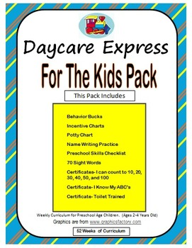 For the Kids Pack (Preschool Checklist, Name Writing, Sigh
