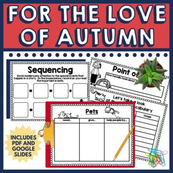This book companion for the book, For the Love of Autumn includes lessons focused on questioning using QAR, summarizing, writing extension, and more in a before, during, after format.