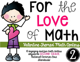 For the Love of Math-SECOND grade Valentine Math Centers