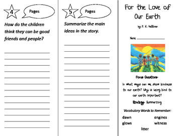 For the Love of Our Earth Trifold - Imagine It 2nd Grade Unit 1 Week 2