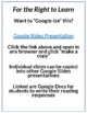 For the Right to Learn Lesson Plan, Google Slides and Docs Activities
