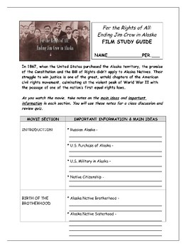 """""""For the Rights of All"""" Film Study Guide"""