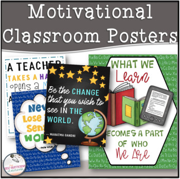 For the Teacher- Back 2 School Inspirational Motivational Quote Posters