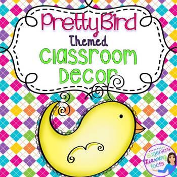 Editable Birds Themed Classroom Decor