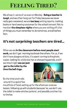 Teacher Mindset: For the tired, overwhelmed teacher with no work/life balance.