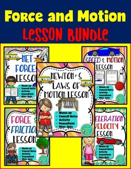 Force and Motion- Physical Science Interactive Notebook Lesson Bundle