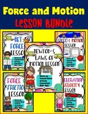 Force and Motion Lesson Bundle- Physical Science Notes, Activity & Presentation