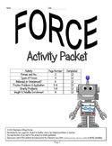 Force Activity Packet (COLLEGE PREP) ~ 5th, 6th, 7th, 8th,