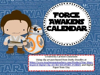 Force Awakens Calendar