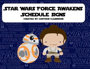 Force Awakens Schedule Signs