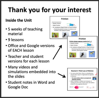 Forces Complete Unit - PowerPoint Lessons, Worksheets & Assessments