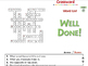 Force: Crossword - MAC Gr. 5-8