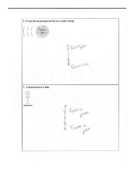 Force Diagram Practice Worksheet Bundle (Free Body Diagrams)