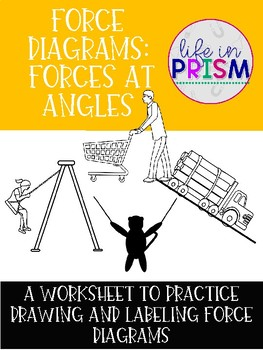Force Diagram Practice Worksheet: Forces at Angles (Free Body Diagrams)