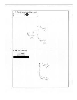 Force Diagram Practice Worksheet (Free Body Diagrams)