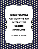 Force Foldable and Activity for Interactive Notebooks